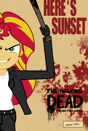 Sunset Shimmer : Negan by ngrycritic