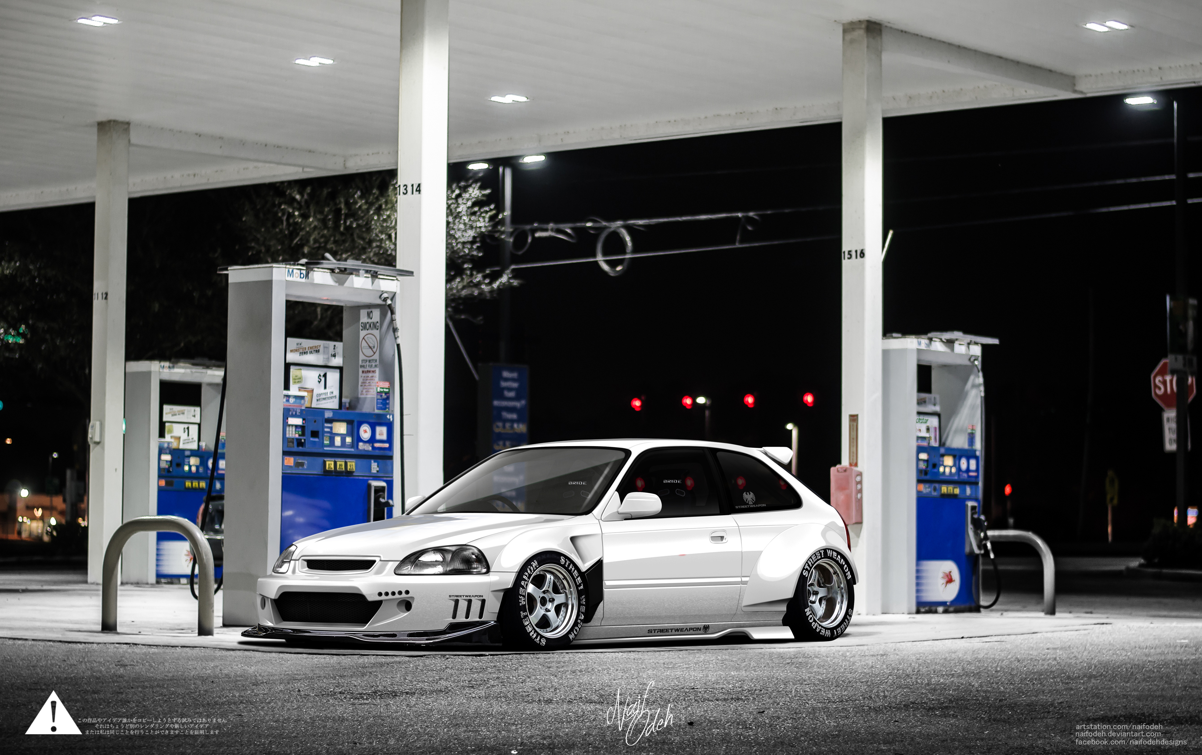 Honda Civic Ek Stance Rocket Bunny by naifodeh on DeviantArt
