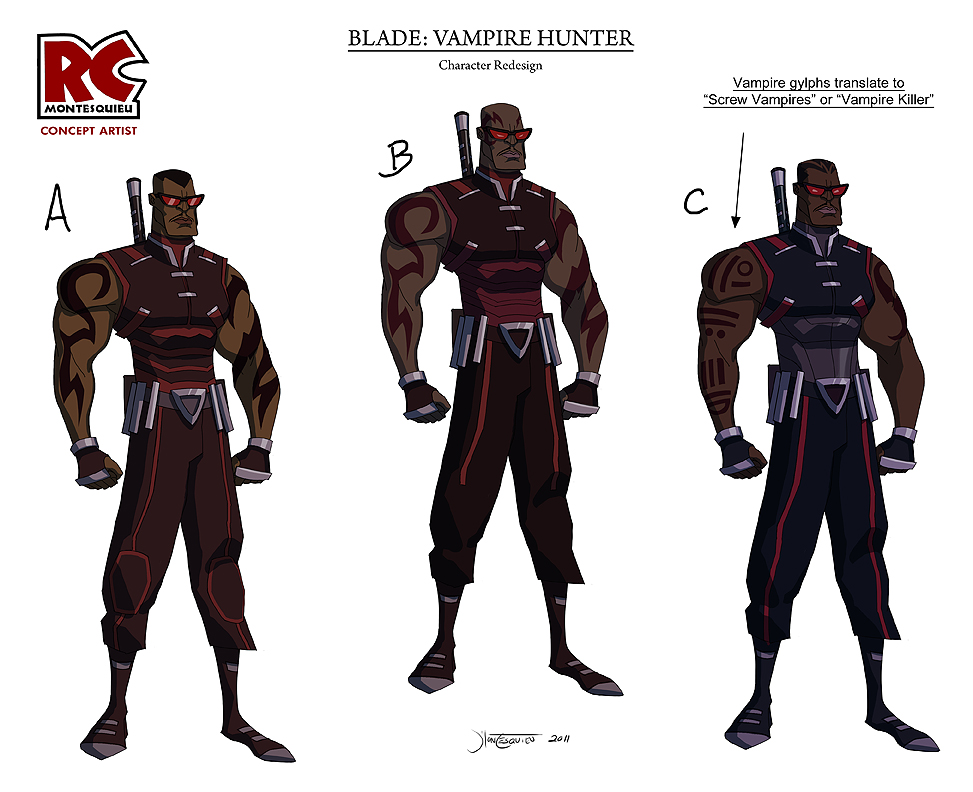 Blade Vampire Hunter by RC-draws
