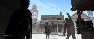 Zombie Cowboy town
