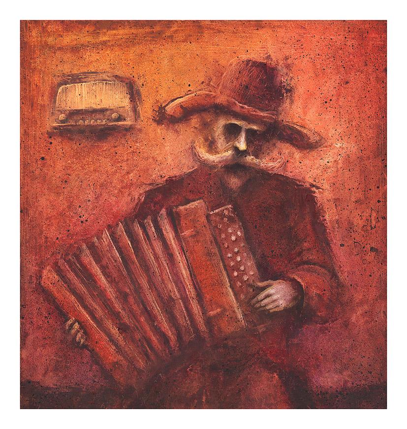 accordionist by Slawekgruca