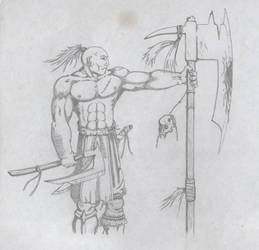 Barbarian with axes
