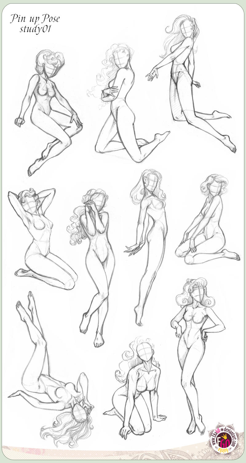 422 Pin up ten Pose study01 by GALEKA-EKAGO