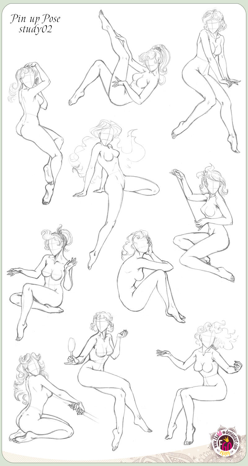425 Pin up ten Pose study02 by GALEKA-EKAGO