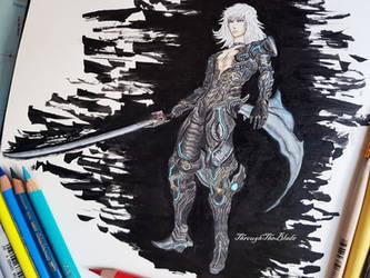 Jin's Blade Form - Xenoblade Chronicles 2 fanart by ThroughTheBlade