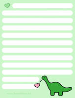 Dinosaur Stationary sample by SweetAllure