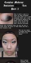 Imitation Black Len Makeup tutorial part 2