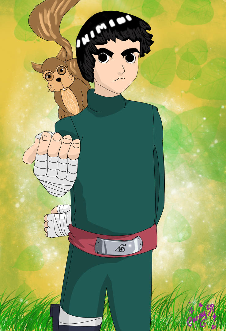 Rock Lee Retouched  by Carmyvv