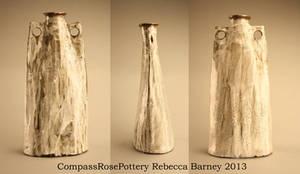 Tall Visual Textured Vase