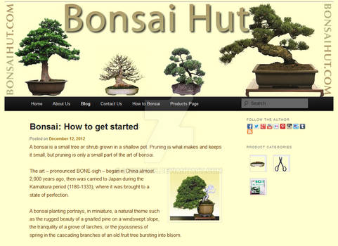 Bonsai Hut WordPress Website