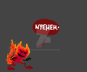 Woah it's a crazy fire demon thing by LilKity828