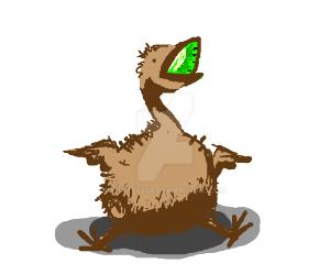 A kiwi (bird+fruit fusion) by LilKity828