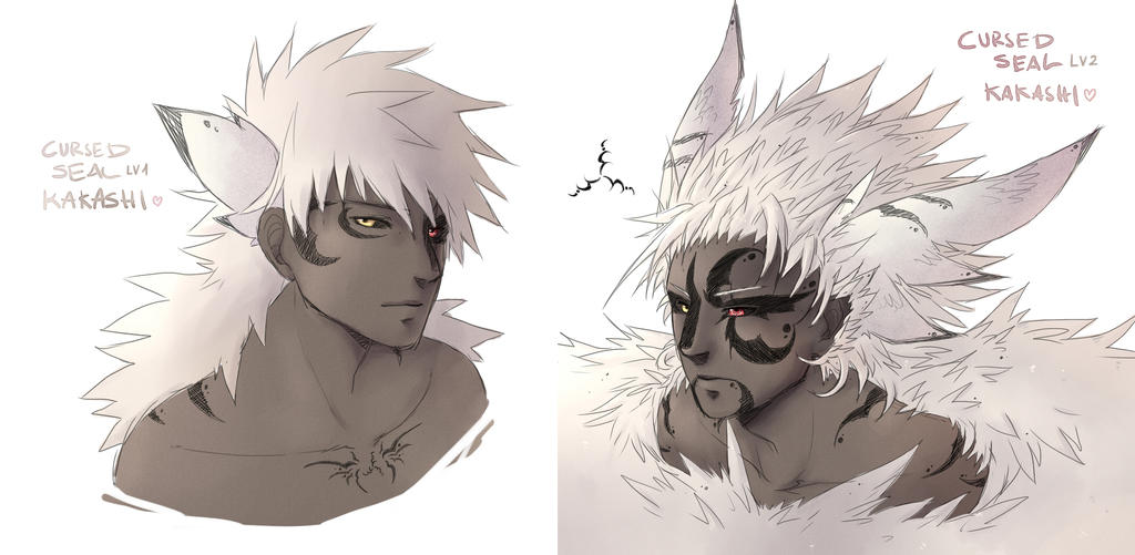 cursed seal   kakashi by ruthea on deviantart