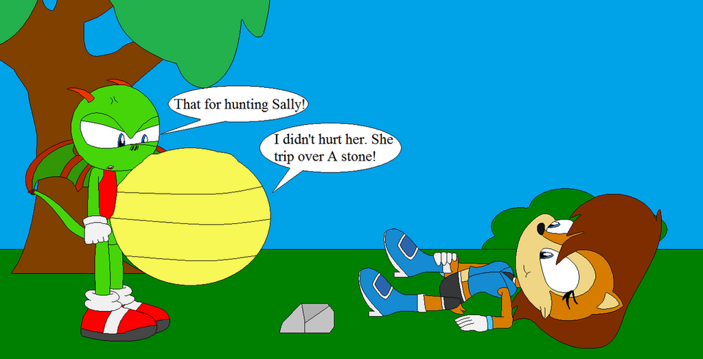 Sonic Burp Vore: Rouge Hurting Sally By Shadevore On DeviantArt