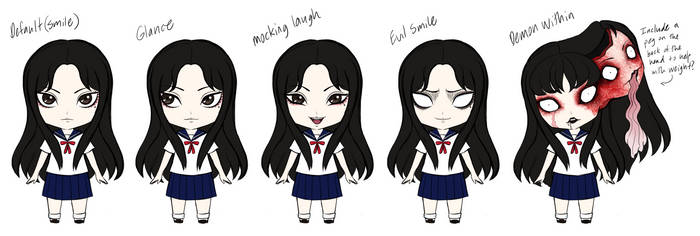 Tomie Nendoroid Idea- Expressions by SketchMeNot-Art