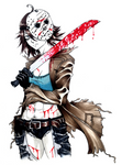 Bishoujo Jason - Friday the 13th by SketchMeNot-Art