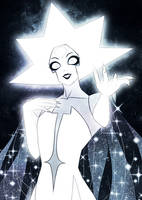 White Diamond - Her Blinding Incandescence by SketchMeNot-Art