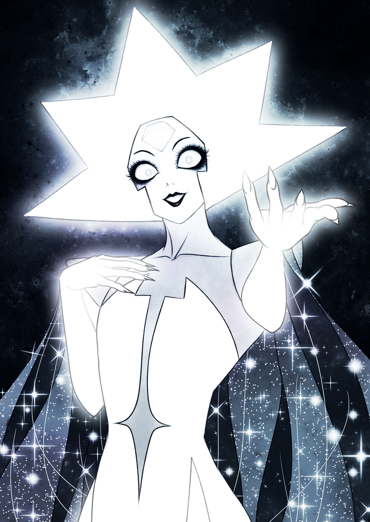 Drew White Diamond from Steven Universe! After years of waiting for even a mere mention of her, WHABAM! Full reveal and everything in Legs From Here to Homeworld! I'm honestly in love with he...