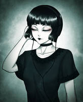 Misery-chan - Tuning Out *Music Playlist!* by SketchMeNot-Art