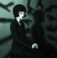 Misery-chan - Shadows by SketchMeNot-Art