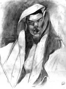 Figure Study - Model with Veil