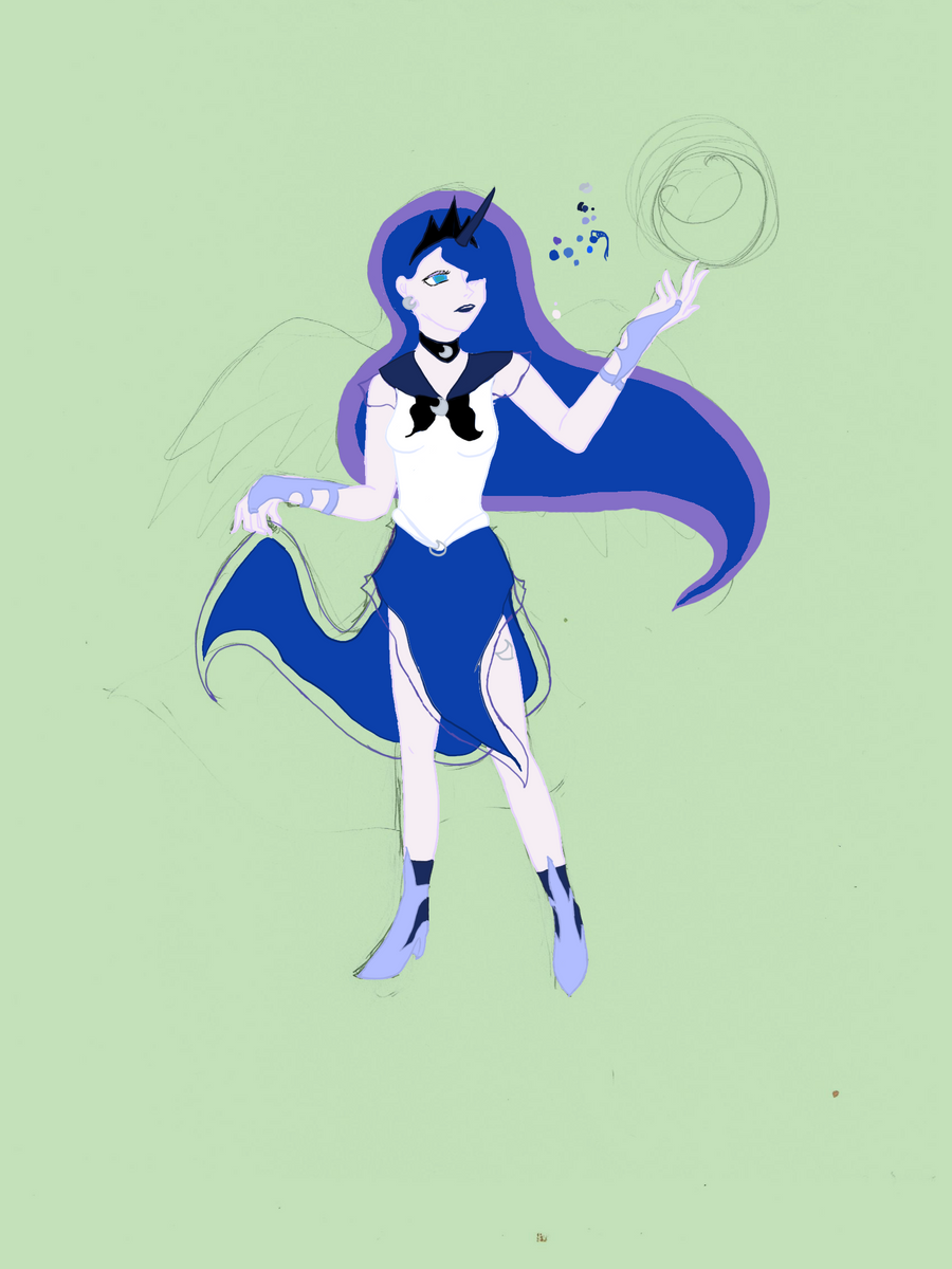 MLP Sailor Luna - WIP by FortunaFiraga on DeviantArt