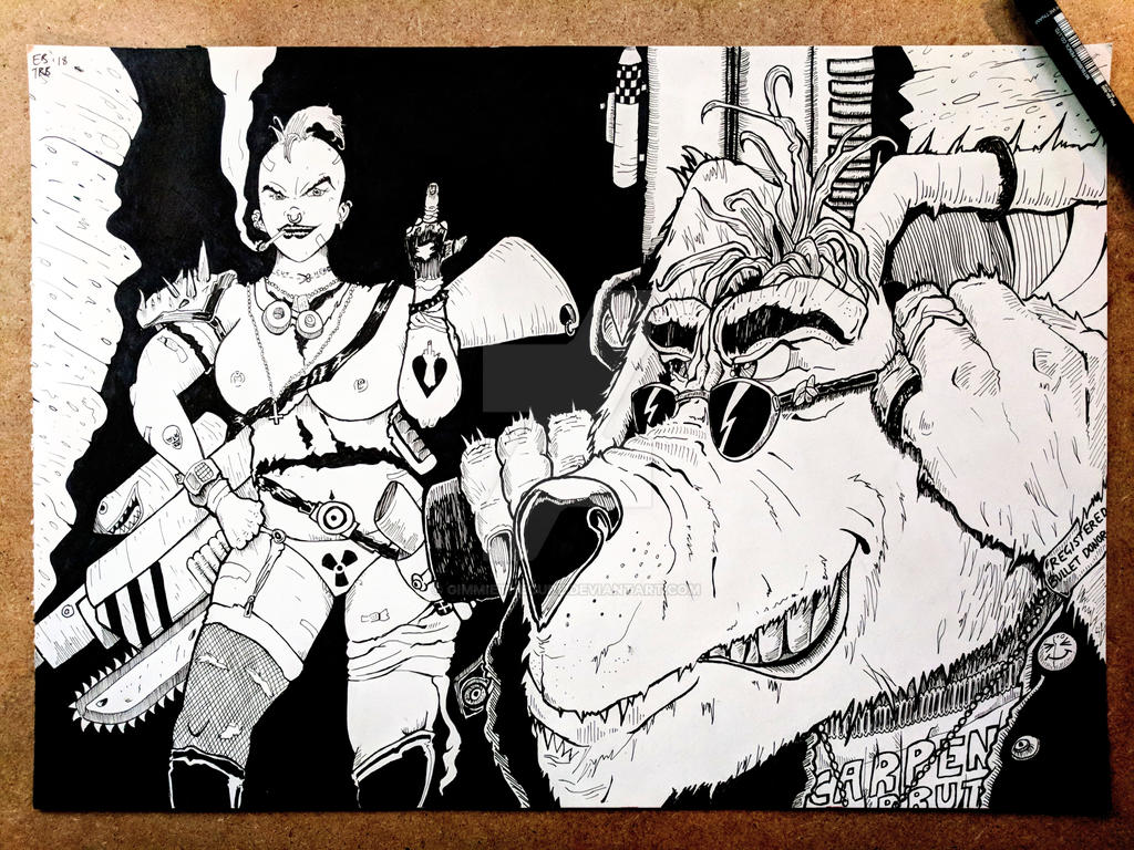 Tank Girl And Booga By Gimmiethecure On Deviantart