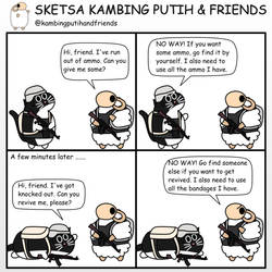 Stingy Teammates by kambingputih