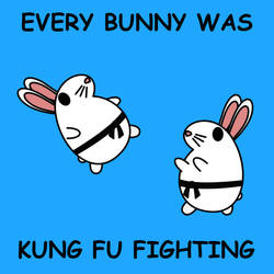 Every Bunny Was Kung Fu Fighting by kambingputih