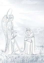 Eonwe and Sauron by Madlore