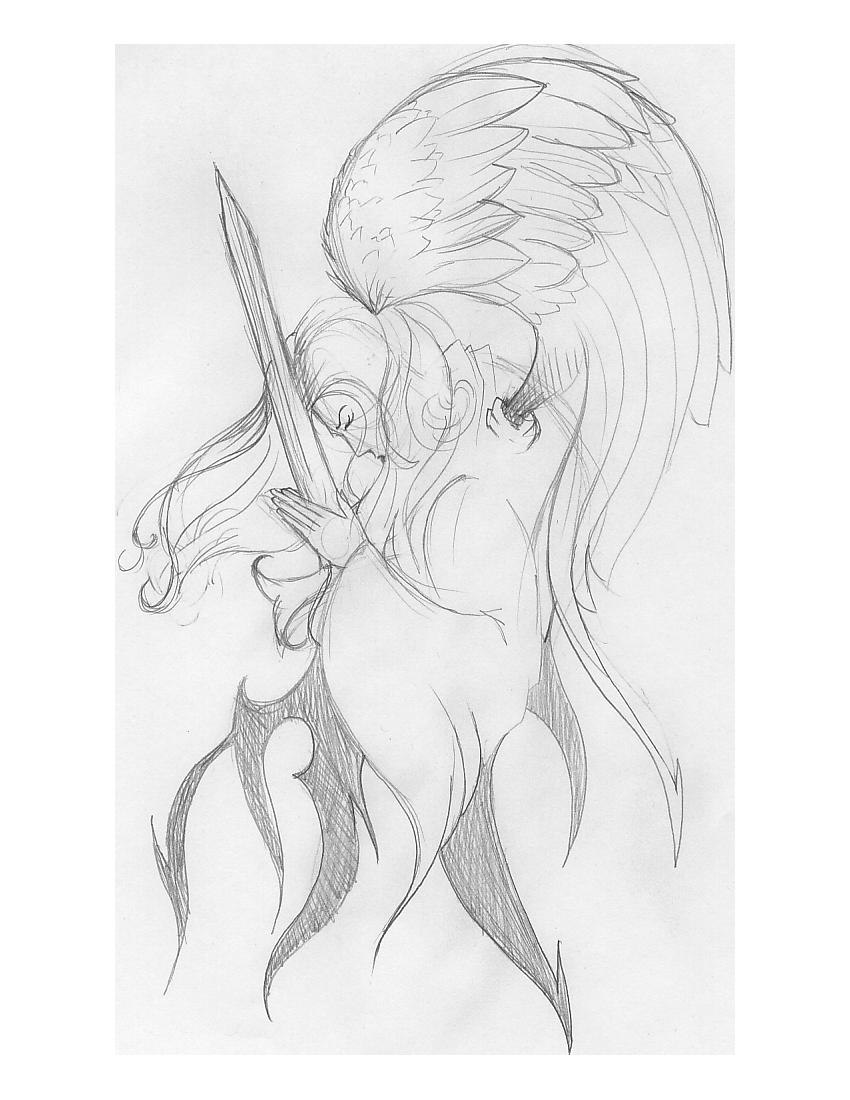 Guardian Angel pencil by Wolvris on DeviantArt