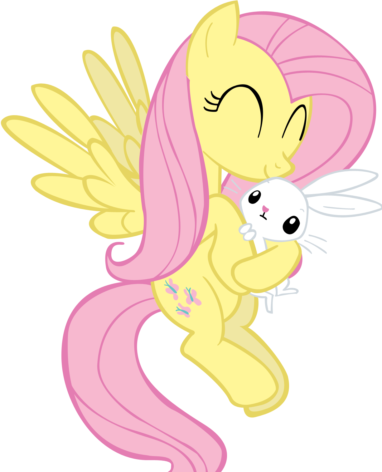 Fluttershy Holding Angel... By Jlee104 On DeviantArt