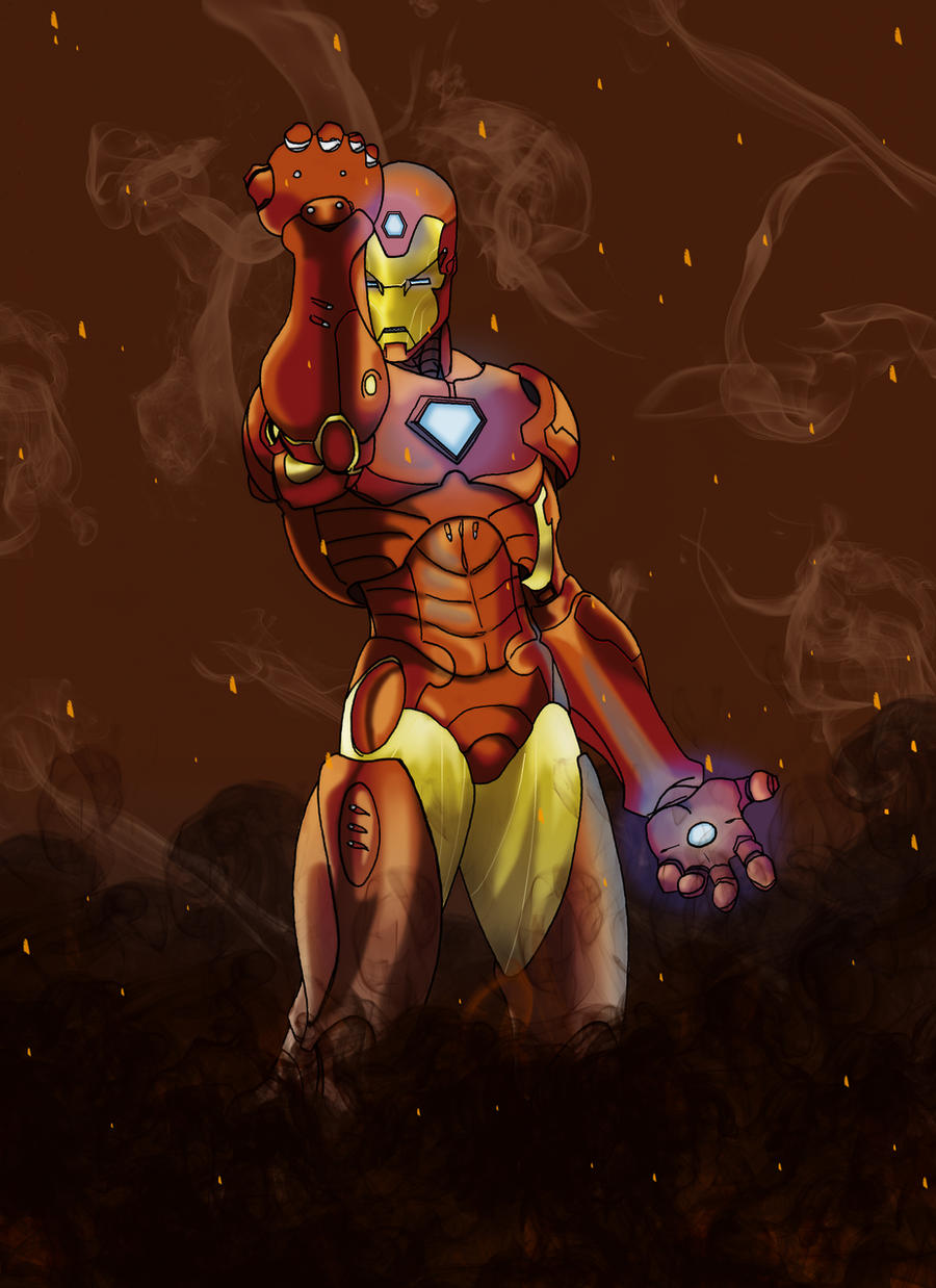 Dibujo Iron Man