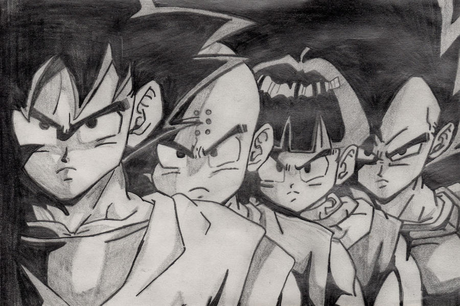Dragon Ball Z escala de grises by Snake085 on DeviantArt