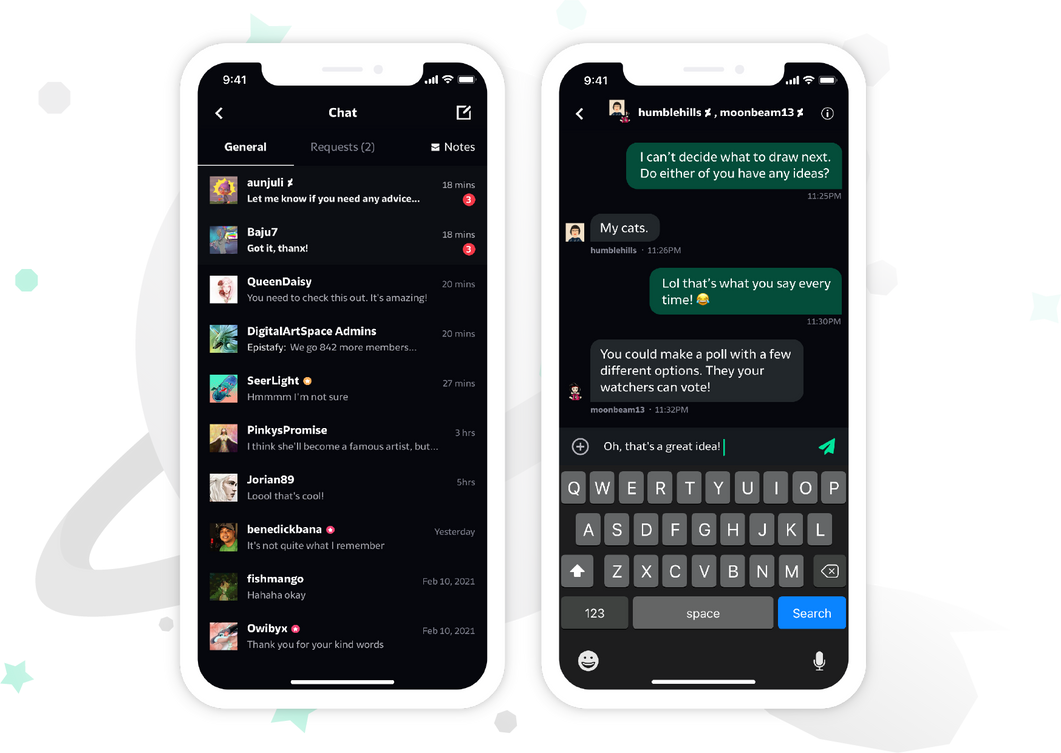 chat-mockup Chat-mobile-with-frame