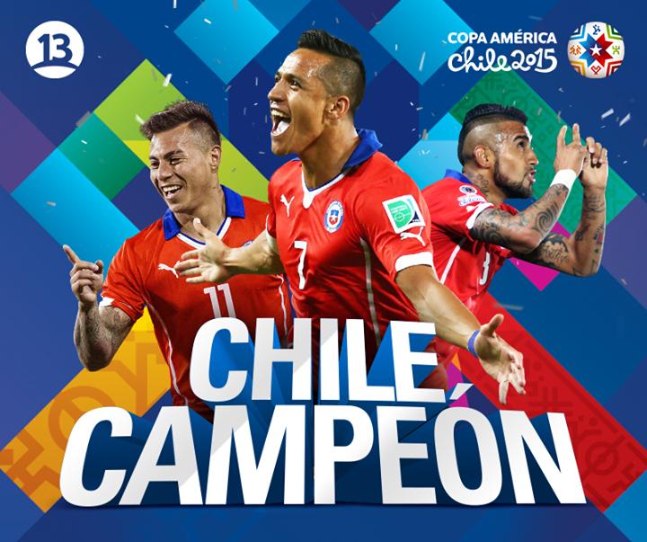 Chile Campeon Copa America 2015 by darosigu