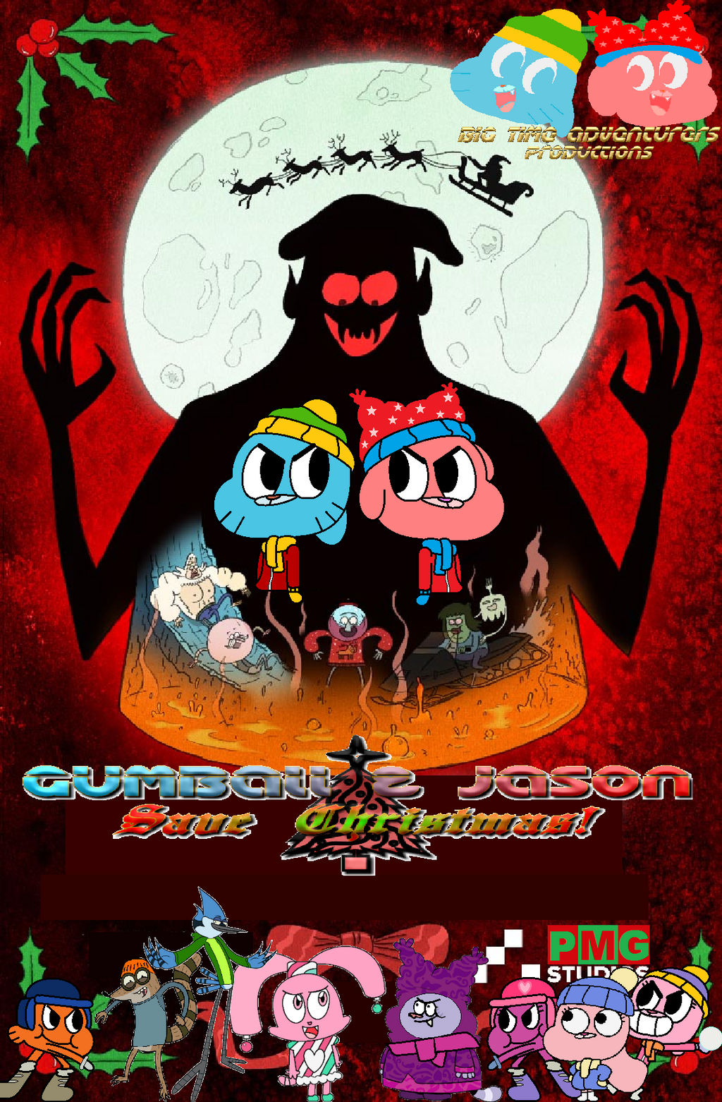 Gumball and Jason Save Xmas Tribute Poster