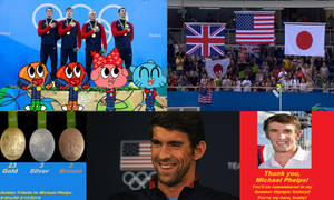 Golden Tribute to Michael Phelps