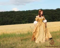 Golden dress by Titania6