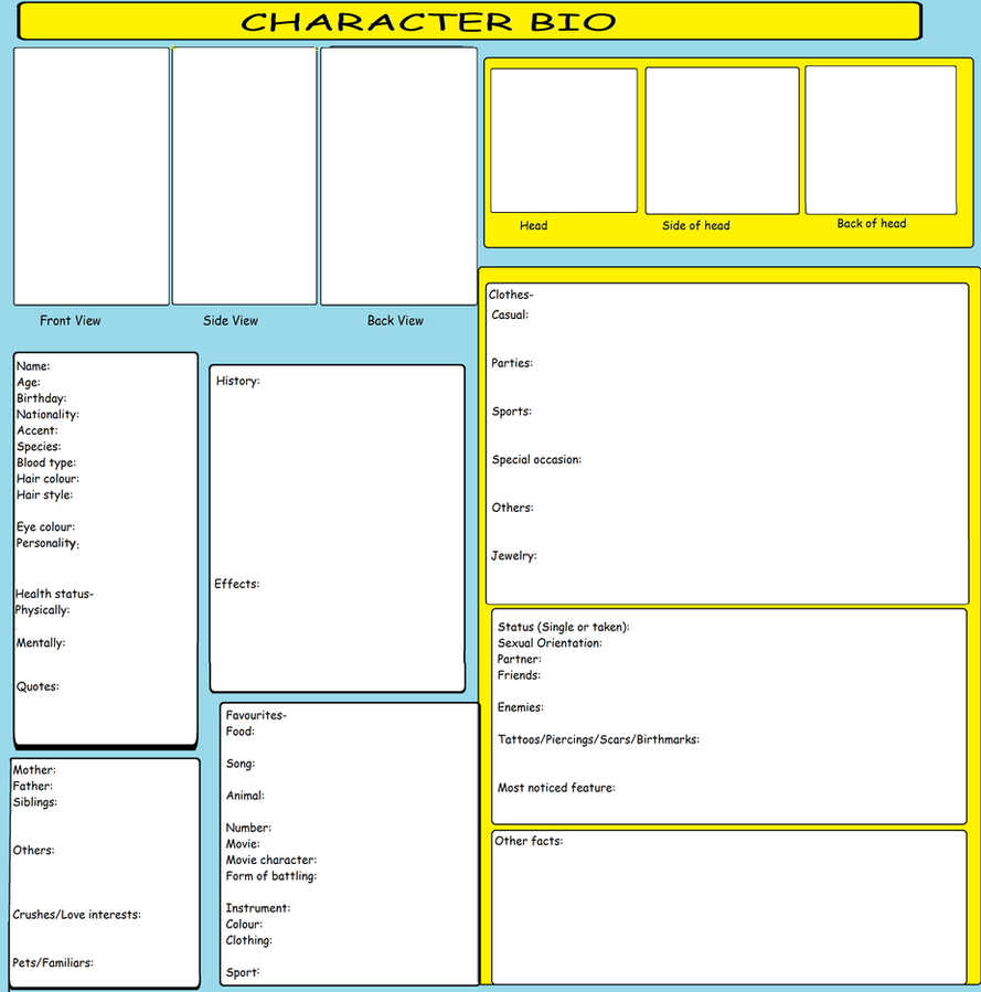 Character Bio Template by kitkattykomodo on DeviantArt dRrBOQuv