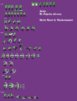 Annie Sprite Sheet (Complete)