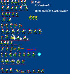 Phil Sprite sheet (Complete)