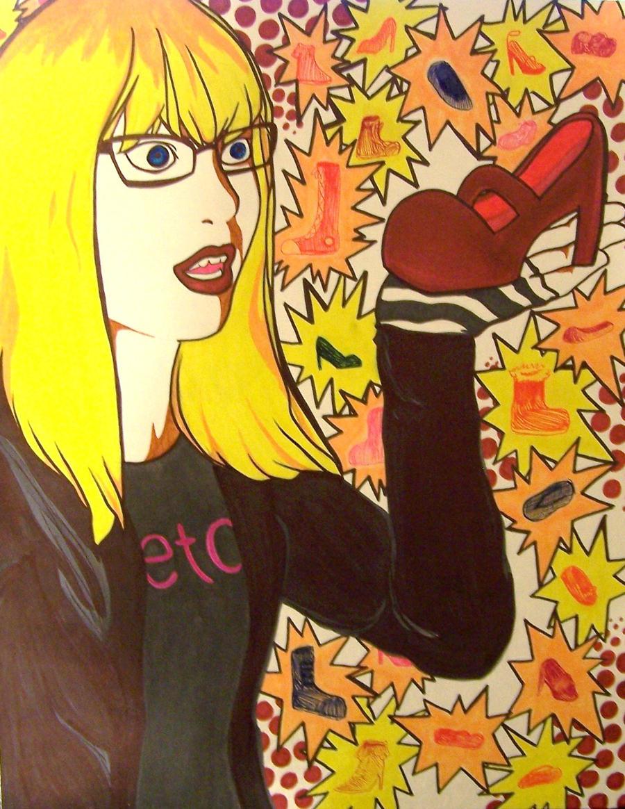 Kelly Likes Shoes by xashesfallx