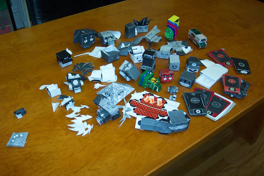 process - papercraft graveyard