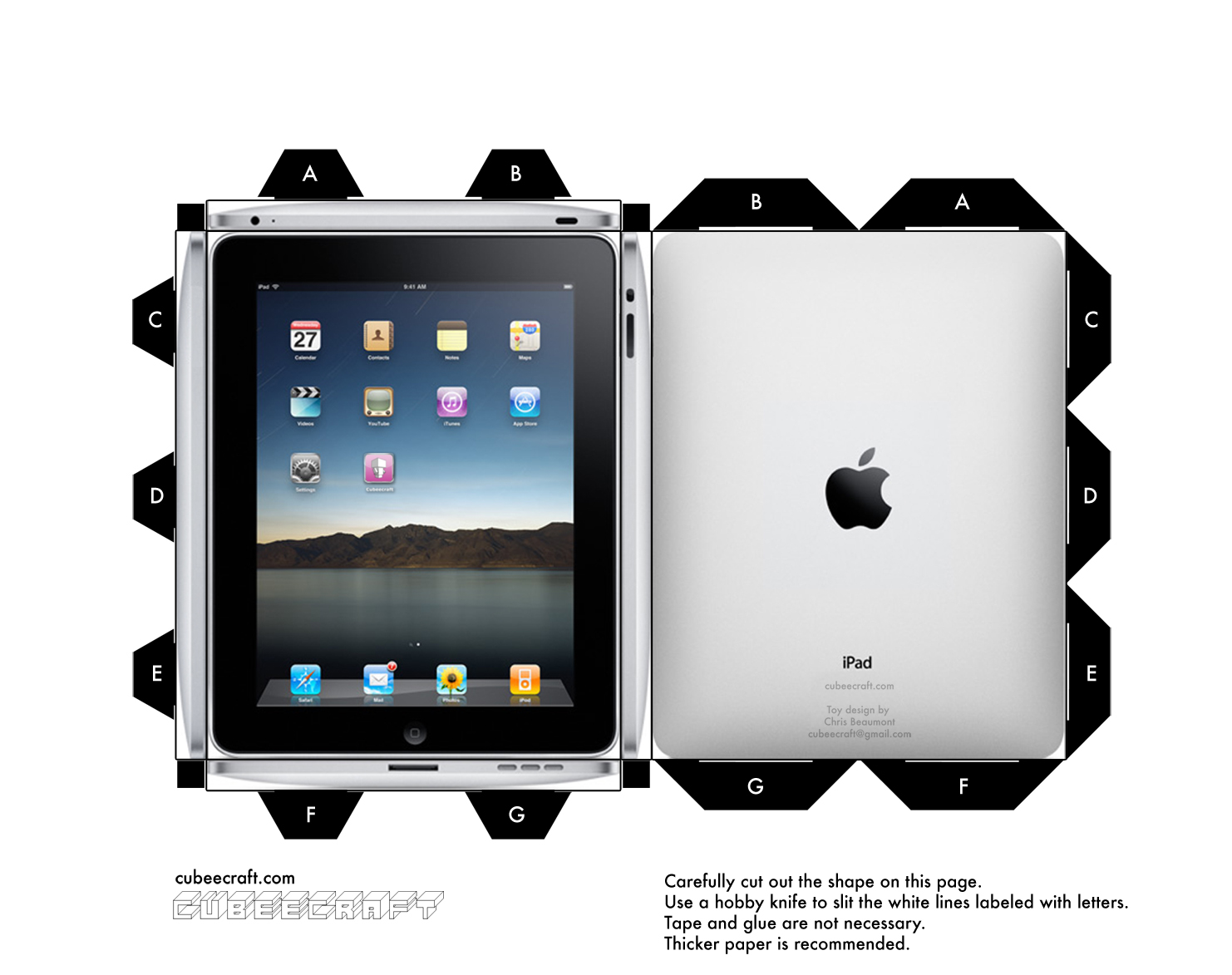 Cubeecraft iPad by cubeecraft on DeviantArt
