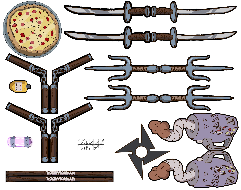 1988 TMNT Accessories by cubeecraft