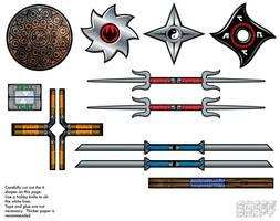 2003 TMNT accessories by cubeecraft