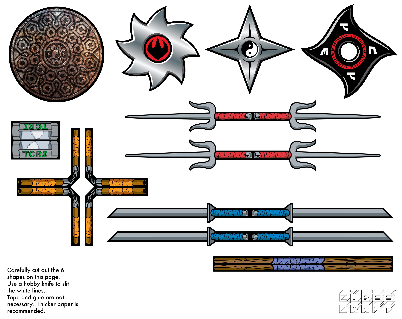 Как из бумаги сделать меч кая