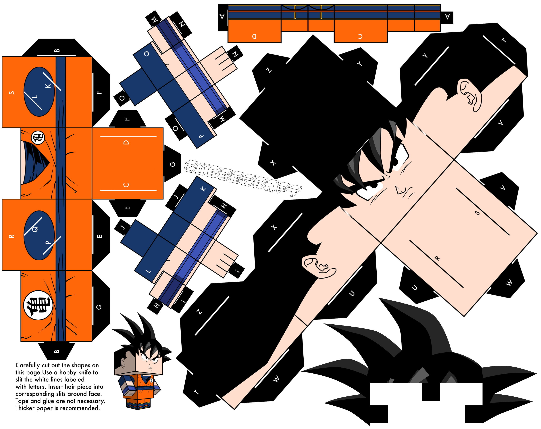 Goku - Dragonball Z version by cubeecraft
