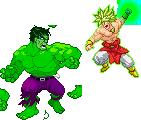 Brolly Vs Hulk by pencilsymbiosis
